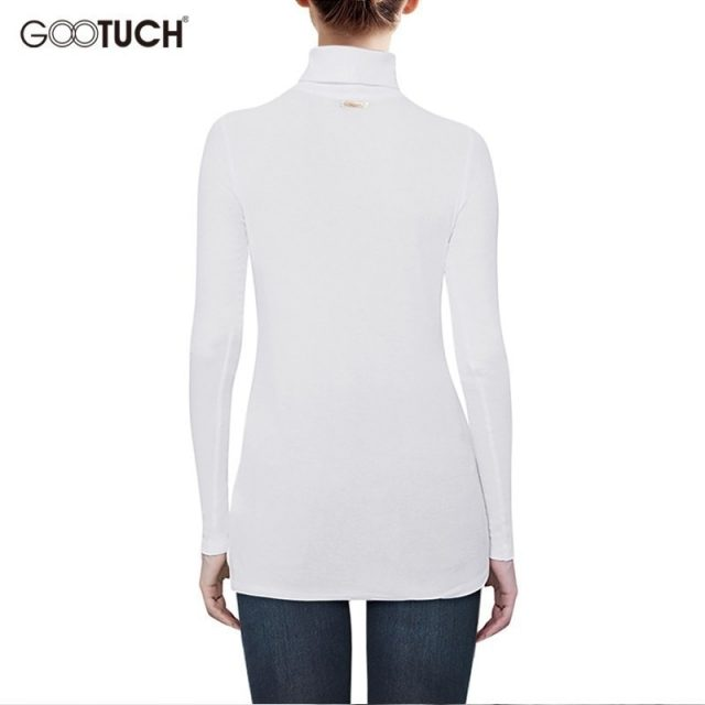 Fashion Womens Long Sleeves Cotton T Shirts Women Turtleneck Long Sleeve Women Casual Long T Shirt Femme Plus Size Tops Tee 5348
