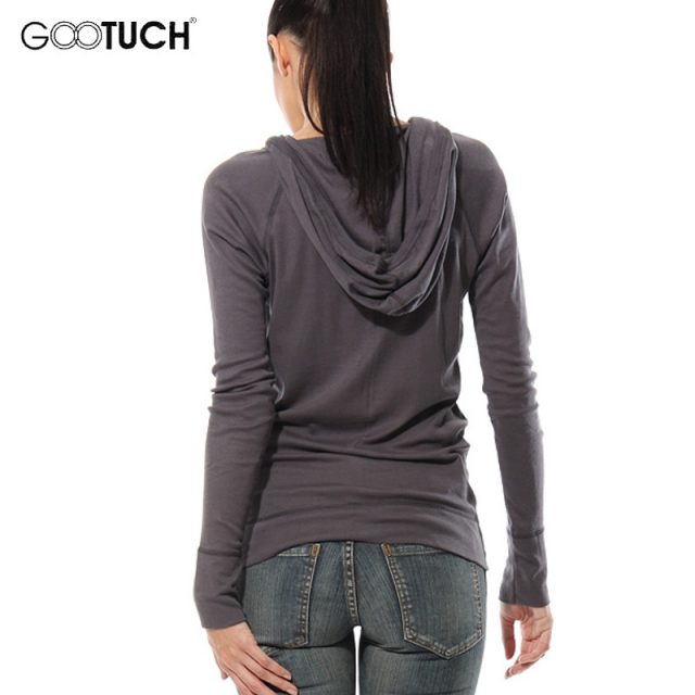 Autumn Winter Womens Hoodies Sweatshirt Casual Long Sleeve Solid Color V Neck Tops Cotton Hooded Shirt Button Plus Size Top 7096
