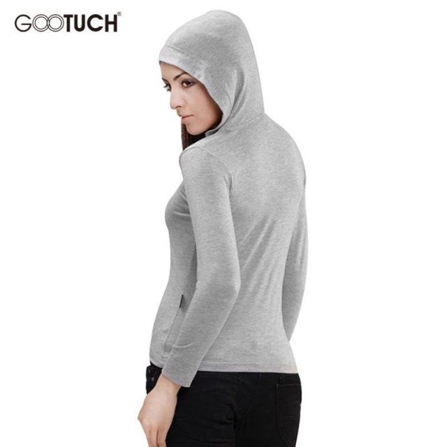 2019 Womens Hooded T Shirt Long Sleeve Ladies Hoodie Top Tees Women Thin Soft Plus Size T Shirts 4XL 5XL 6XL Long Sleeves 2263