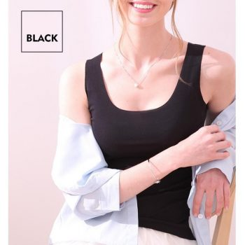 2019 Summer Sexy Top Women O Neck Slim Seamless Tank Tops Soft Viscose Fiber Vogue Sleeveless T shirt Casual Black White Tops