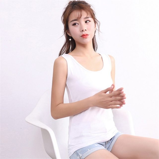 Women Big Size Tank Tops 2XL-6XL Modal Female Summer Solid Casual Vest Black Sleeveless Fitness Leisure Lady Camisoles Plus Size