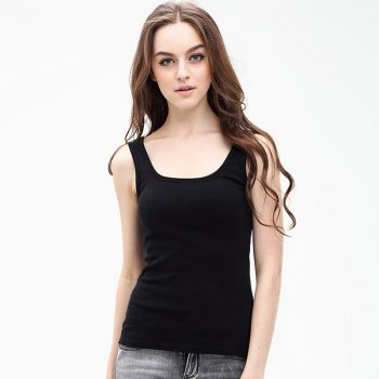 2019 Summer Vogue 100% Cotton Tank Tops Women U Neck Slim Casual Bottoming Shirt Sleeveless Female Sex Tanks White Top Free Size