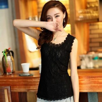 Charm Elegant Lace Sleeveless Tank Top  Camisole Shirt Vest Slim Summer Tube Top Clothing For Lady Women Female Gifts