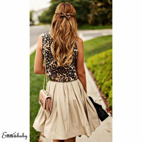 Hot New Fashion Summer Ladies Animal Print  Womens Tops Vest Leopard Sleeveless Stretch Party Leotard Slim Sexy Casual Tank Top