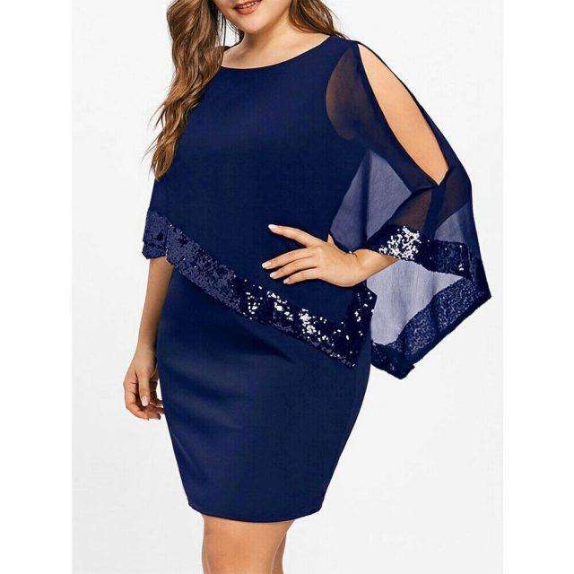 Evening Sexy Black Sequin Dress Women Befree Party vestidos Mesh streetwear Luxury Nightclub Dresses Short Mini Dress Plus Size