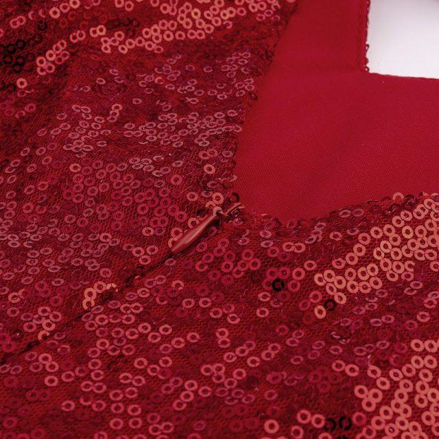 Womail Dress Women sequins Sparkle red Dresses Evening Mini A-Line V-Neck Paillette Formal Elegant Party Gown club vestido dress