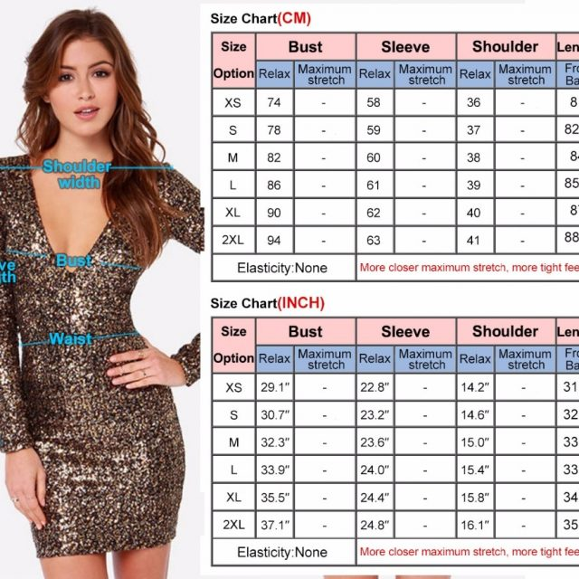 SEBOWEL Sexy Gold Sequin Club Dress Women Long Sleeve Glitter Bodycon Mini Party Dress Sparkle Female Shine Slim Pencil Dresses