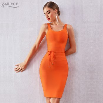 ADYCE 2019 New Summer Women Bandage Dress Vestido Sexy Strapless Spaghetti Strap V Neck Club Dress Celebrity Evening Party Dress