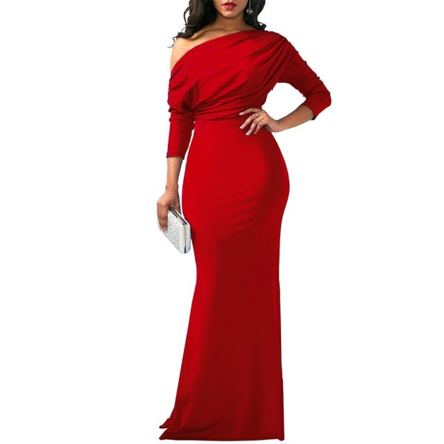 Summer Women Solid Polyester A-line Dress Regular Half Sleeve Long Dress Boho Beach Maxi Dress Evening Casual Party Dress