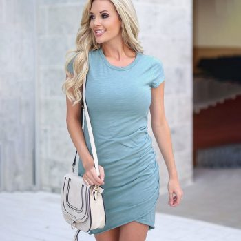 Women dress 2020 new summer mini dress fashion bodycon sexy dress female solid color slim o-neck party dress ladies vestidos