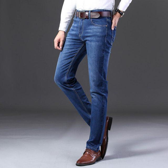 2019 New Mens Fashion Black Blue Jeans Men Casual Slim Stretch Jeans Classic Denim Pants Trousers Plus Size 28-40 High Quality