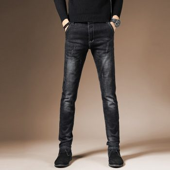 2019 Men Stretch Jeans Fashion Black Denim Trousers For Male Spring And Autumn Retro Pants Casual Men's Jeans size 28-36