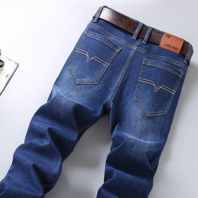 2019 New Hot cotton Jeans Men High Quality Famous Brand Denim trousers soft mens pants autumn jean fashion Large Big size 40