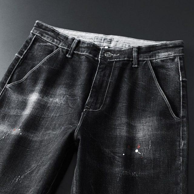DEE MOONLY retail & wholesale brand jeans men pants ,Leisure&Casual pants,Zipper fly Straight Cotton Men biker Jeans trousers
