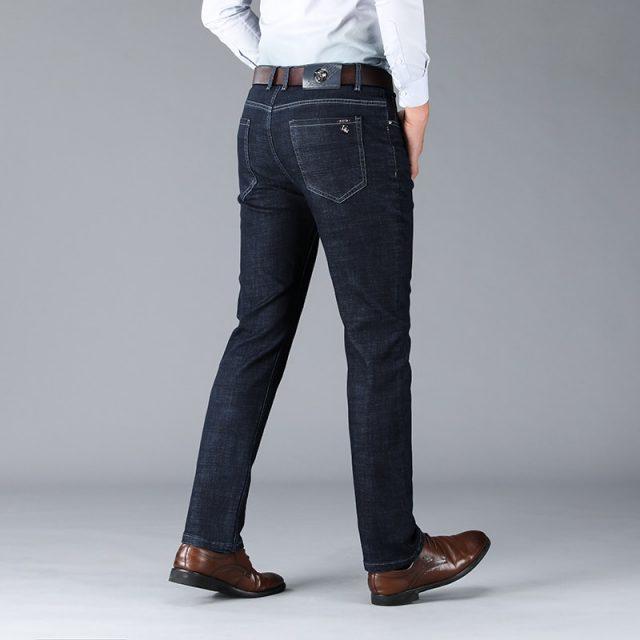 Xuansheng black men's jeans 2019 new classic fashion design straight stretch high waist loose denim large size streetwear jeans