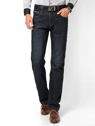 Xuan Sheng wide leg men's jeans 2019 high waist stretch loose straight brand blue black classic long pants clothing denim jeans