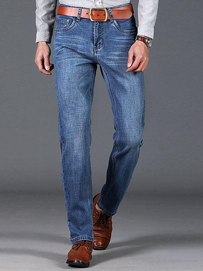 XuanSheng straight men's jeans 2019 Classic fashion traces light blue streetwear denim clothing cotton soft stretch pants jeans