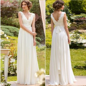 2019 New Arrival Spring Bohemian Bridal Wedding Dress Beach A Line Chiffon Bridal Gowns Custom Made Plus Size