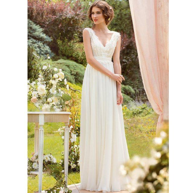 2019 New Arrival Spring Bohemian Bridal Wedding Dress Beach A Line Chiffon Bridal Gowns Custom Made Plus Size