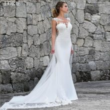 LORIE Mermaid Wedding Dresses Turkey 2019 Lace Appliques Bridal Dress Custom Made Wedding Gown vestidos de noiva Plus size