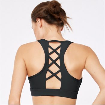 Sexy Yoga Bra Women Padded Sports Bra Shake Proof Running Workout Gym Top Tank Fitness Shirt Vest