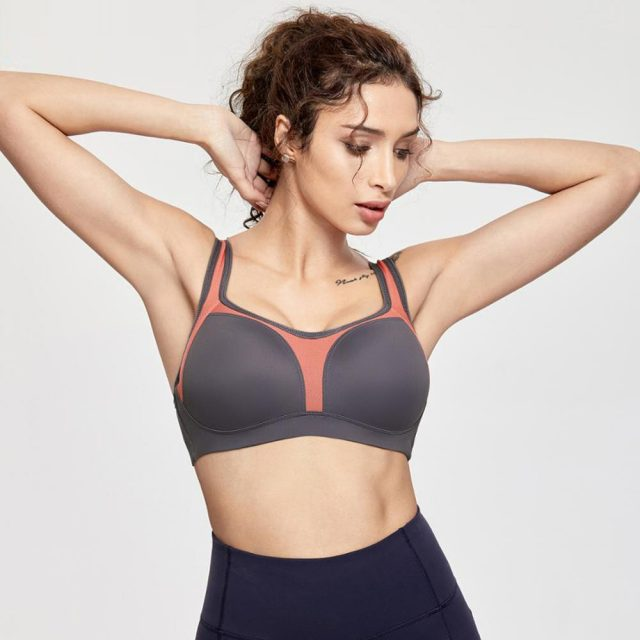 Women's Underwire Firm Support Contour High Impact Sports Bra