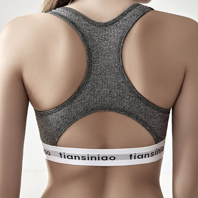Mermaid curve Seamless Sports Bra Women Gym Back Cross Strappy Fitness Bras push up Gym Active Wear Yoga Bras For Running Tops