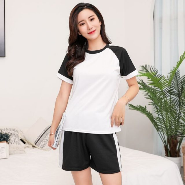 2020 Summer Shorts Pajama Sets for Women Short Sleeve Thin Sleepwear Suit Cute Girls Pyjamas Homewear Pijama Mujer Home Clothes