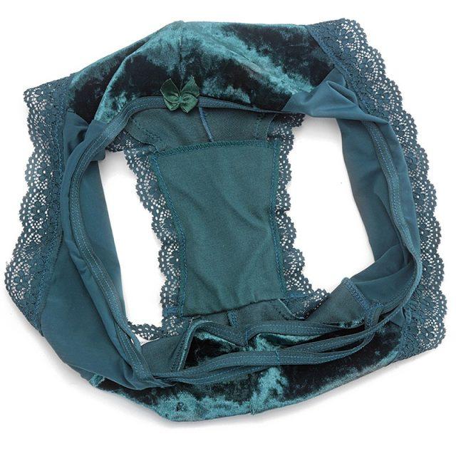 TERMEZY New Lace Velvet Lingerie Panties Women Sexy Low-Waist G-string Female Briefs Underwear Fashion Seamless Underpants