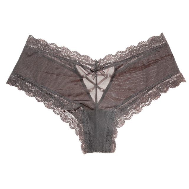 SP&CITY Fashion Back Bandage Design Satin Sexy Lace Panties Women Solid Seamless Underwear Soft High Level Crotch Cotton Breifs