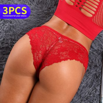 3pcs thong panties Women female underwear sexy tanga Lingerie stringi bragas sexy lingerier calcinha seamless breeches briefs