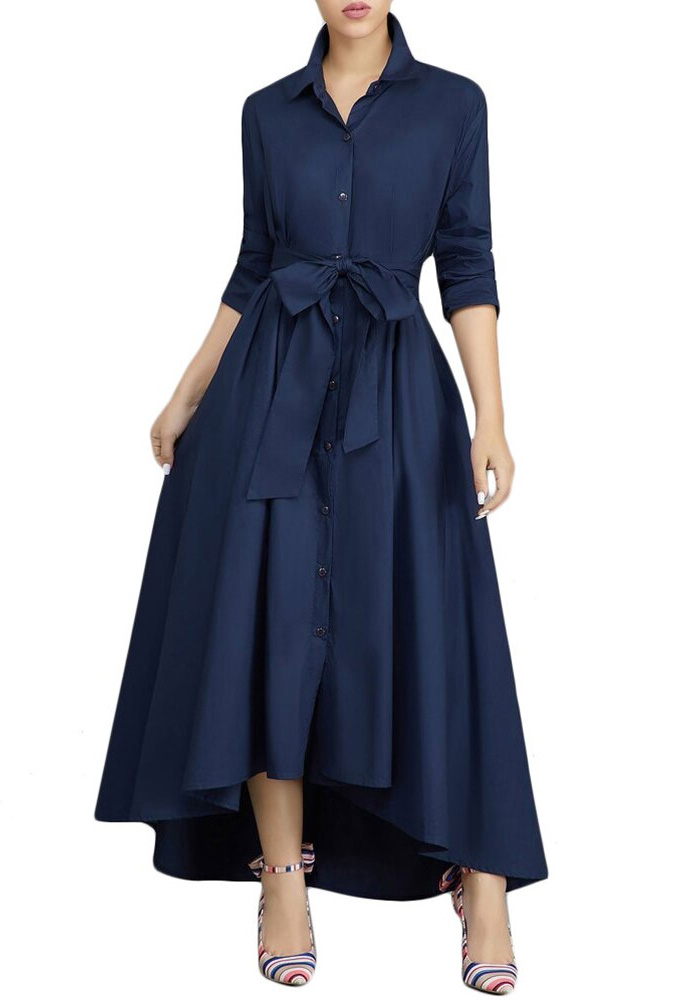 Vintage Bandage Shirt Dress Women Autumn 2020 Sexy V Neck Long Party Dress Casual Plus Size Slim Office Ball Gown Maxi Dresses