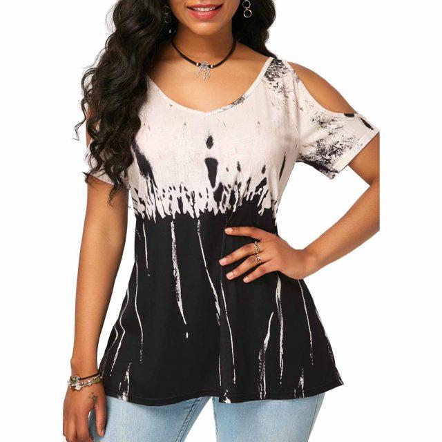 Women T-Shirt Loose blusas poleras mujer de moda 2020 Vintage Casual Plus Size Slim Tops Sexy Off Shoulder harajuku ropa mujer