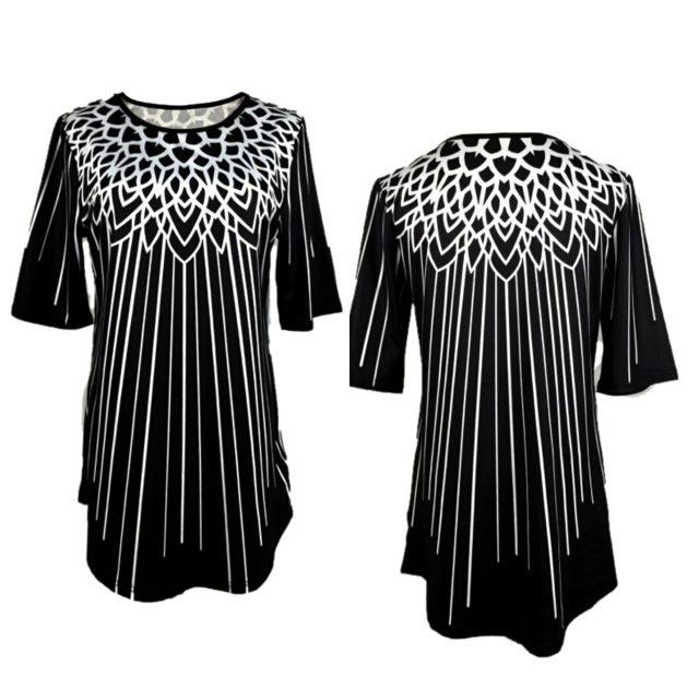 Women T-Shirt Autumn Casual Irregular Long blusas poleras mujer de moda 2020 Vintage Plus Size Slim Personality Print Womens Top