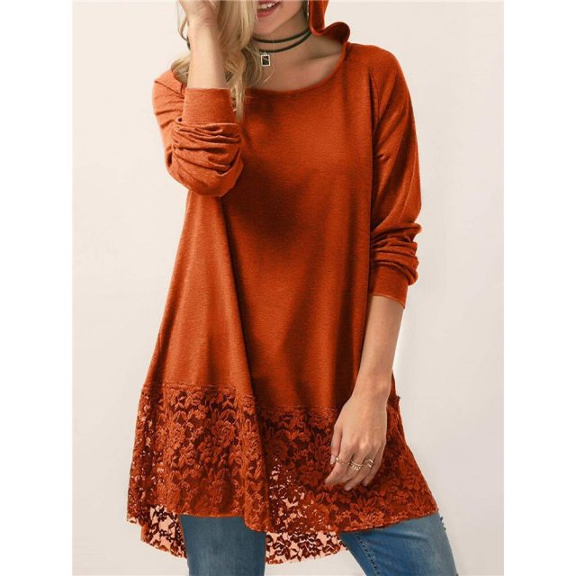 Women's Blouse And Shirt Spring Summer Casual Hoodies Cotton Lace blusas mujer de moda 2020 Vintage Plus Size Long Tops harajuku