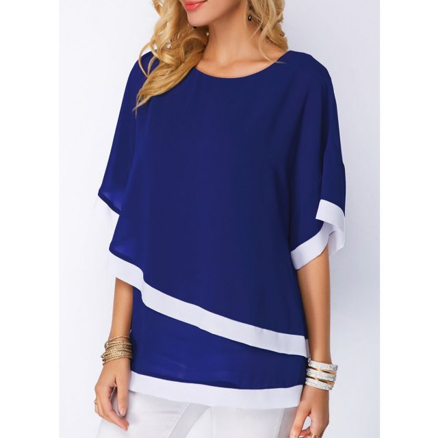 Women's Blouse And Shirt Spring Summer Irregular Chiffon Bat Sleeve blusas mujer de moda 2020 Vintage Plus Size Tops harajuku