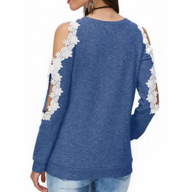 Women's Blouse And Shirt Spring Fashion Sexy Hollow Out Lace blusas mujer de moda 2020 Vintage Plus Size Slim Long Sleeve Tops