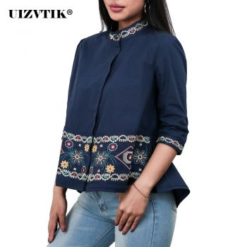 Women Blouses Summer Embroidery Hook Flower blusas mujer de moda 2020 Vintage Casual Plus Size Loose Shirt Korean Style Tops 3XL