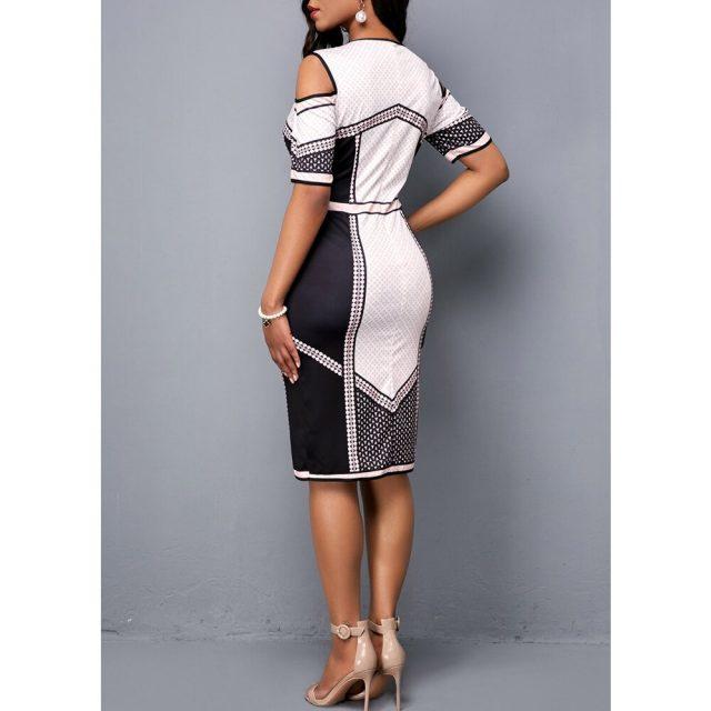Summer Dress Women 2020 Casual Plus Size Slim Plaid Office Bodycon Dresses Elegant Vintage Sexy Off shoulder Party Dress White