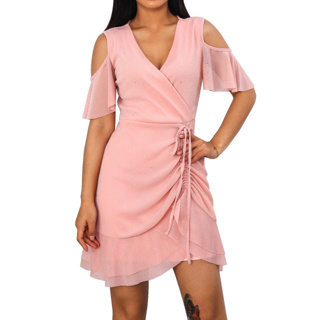 Woman Dress Sexy V Neck Chiffon A Line Summer Dress Women 2020 Vintage Casual Slim Off Shoulder Evening Club Mini Party Dresses