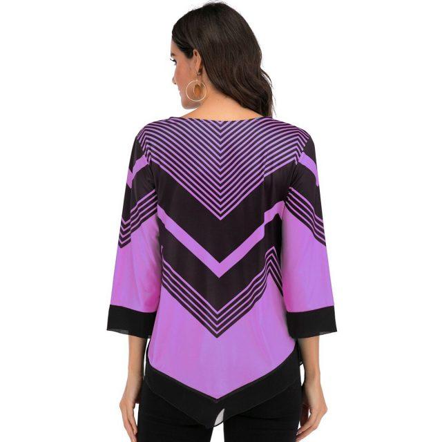 Spring Women's Blouse Shirt Summer Sexy Asymmetric Hem Floral Print blusas mujer de moda 2020 Vintage Plus Size Tops harajuku
