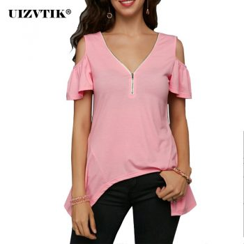 Women T-Shirt Summer Casual Plus Size Slim Irregular Long blusas poleras mujer de moda 2020 Vintage Sexy Off Shoulder Women Tops