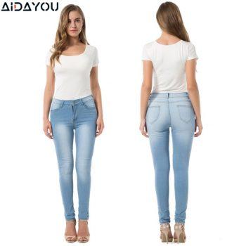 Women Jeans  Stretch Plus Size High Waisted  Boyfriend Jeans  Cute Distressed Denim Jean Push Up Butt ouc277