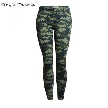 S-5XL Spring Summer Camouflage Strech Jeans Woman Elasticity Skinny Women Pants Jeans Low Waist Streetwear Spodnie Damskie 2020
