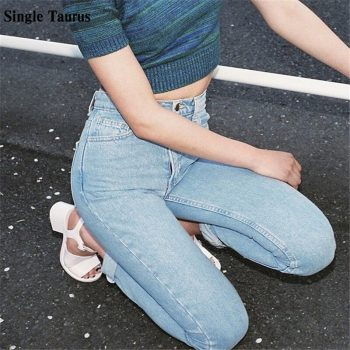 Harem Classic Jeans Streetwear Casual High Waist Denim Pants Femme Loose Straight Pantalones Vaqueros Mujer