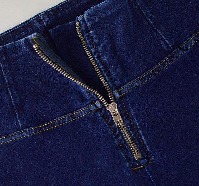 High Waist Push Up Jeans Women Streetwear Elasticity Skinny Jeans Woman Deep Blue Zipper Fly Outfits Tracksuit Denim Pants Femme