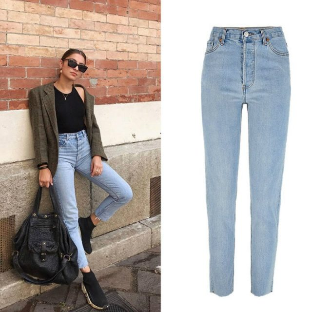 Straight Denim Pants Women High Waist Slim Blue Vintage Jeans Woman Streetwear Ladies Mom Jeans Washed Fashion Women Clothes