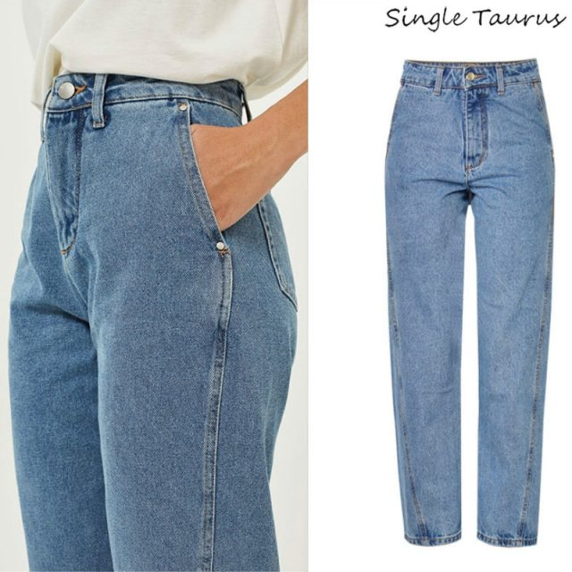 Super Fashion Loose Wide Leg Pants Women High Waist Washed Special Cropping Personality Boyfriend Style Vintage Jeans Femme 2019