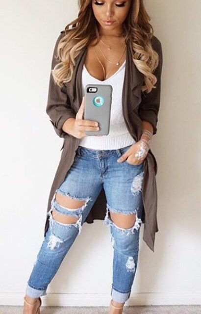 2018 Summer Hole Hollow Out Ripped Jeans Women Fashion Vintage Washed Slim Elasticity Skinny Jeans Femme Cotton Denim Pant Mjuer