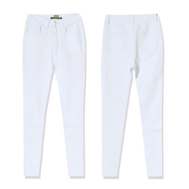 High Waist Women Jeans Fashion White Elastic Jeans Feminina Push Up Sexy Skinny Jeans Women High Quality Jeans Pantalon Femme